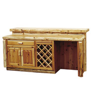 FL16551 Rustic Log Bar