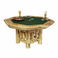 FL16700 Rustic Log Poker Table