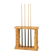 FL16760 Floor Log Pool Cue Rack