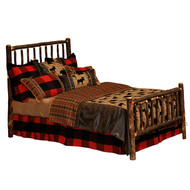 FL80100 Hickory Traditional Bed