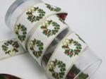"Jacquard Ribbon 1 1/2"" (38.1mm) Christmas Garland"