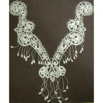 Venice Lace Yoke Applique - Large Ivory