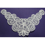 Yoke Applique WHITE - 6 Pack