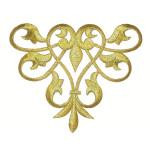 Decorative Swirl Metallic Gold Iron On Patch Applique