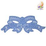 Venise Lace Applique - Bow Blue