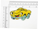 Cartoon Car Patch iron On Embroidered Applique