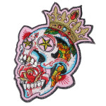Iron On Patch Applique - Candy Skull