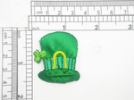 "St Patricks Hat Patch Embroidered iron On Applique 1 3/8"" x 1 1/2"""