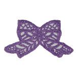 """Venise Lace Applique - Bow Purple 3.25""""x2"""""""