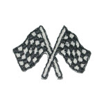 Iron On Patch Applique - Checkered Flags