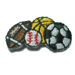 Iron On Patch Applique - Sports Balls Quartet