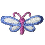 Iron On Patch Applique - Dragonfly  small blue and mauve