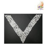 Venise Lace Yoke Applique - Large V IVORY