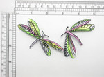 "Dragonfly Applique Iron On Embroidered Patch  Measures 5"" high x 4"" wide approx as pictured"