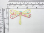 "Dragonfly Patch Pastel Sequin Iron On Embroidered Applique  Measures 1 5/8"" high x 2 1/4"" wide approx"