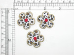 3 x Daisy Leopard Print Patch Embroidered Applique