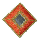 Iron On Patch Applique - Diamond Mirrored Orange
