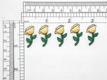 5 x Daffodil Mini Embroidered Iron On Appliques