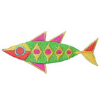 Iron On Patch Applique - Abstract Fish