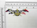"Anchor & Flag Patch Embroidered Iron On Applique 1 1/8"" x 3 1/4"""