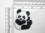 iron on panda patch