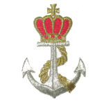 Crown on  Anchor Iron On Patch Applique