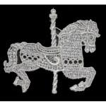 Venise Lace Applique - Carousel Horse Off White