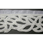 "Bridal Beaded Trim 2 5/8"" White"