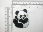 "Panda Patch Iron On Embroidered Applique Right 2"" x 2 1/4"""