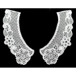 Collar Appliques Venise Lattice L & R White