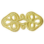 Iron On Patch Applique - Button hole Decorative Metallic Gold