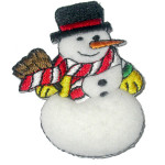 Iron On Patch Applique - Puffy Snowman