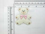 "Teddy Bear Patch Iron On Embroidered Applique 2 1/4"" x 2 1/2"""