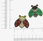 Iron On Patch Applique - Lady Bug Gem Eye *Colors*