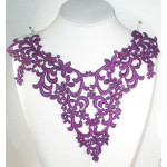 Venise Lace Yoke Applique - Violet
