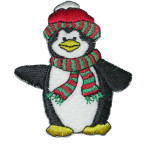 Iron On Patch Applique - Christmas Penguin