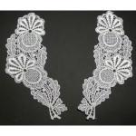 Collar Appliques Venise Lace L & R Ivory