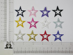 """Iron On Patch Applique - Open Star 1 1/4"""" (31.75mm) *Colors*"""