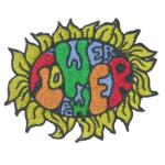 Flower power Hippie Iron On Patch Embroidered Flower Applique