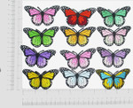 """Butterfly Monarch 1 7/8""""  Iron On Patch Applique *Colors*"""