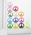 "Iron On Patch Applique - Peace Sign 1"" *Colors*"
