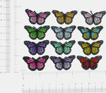 """Butterfly Monarch 7/8""""  Iron On Patch Applique *Colors*"""