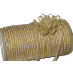 """Pull A Bow 1/8"""" Gold Metallic 100 Yards"""