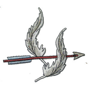 Iron On Patch Applique - Indian Feather / Arrow