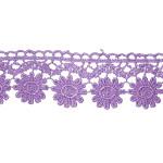 """Venise Lace 1 3/4"""" Purple Floral"""