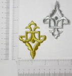 Iron On Patch Applique - Decorative Metallic Symbol