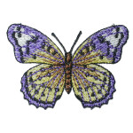 "Iron On Patch Applique - Butterfly 2 3/4"" Periwinkle"