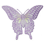 Iron On Patch Applique - Butterfly Swallowtail 2 3/4""