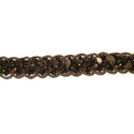"Sequin Braid 1/2"" Brown 10 Yards"