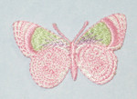 "Iron On Patch Applique - Butterfly  1 5/8"" Pink Pastel"